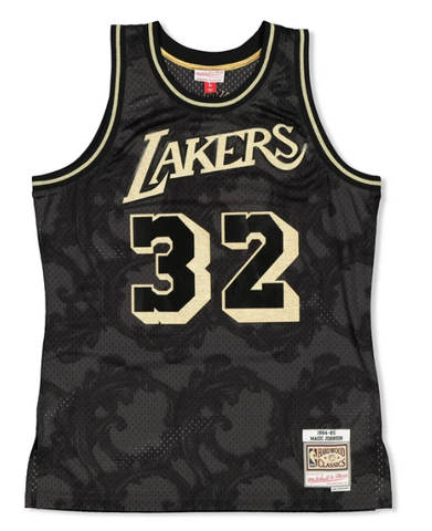 Michell and Ness Swingman Jersey / Lakers / Magic Johnson / Gold Toile