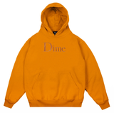 Dime Classic Logo Embroidered Hoodie / Orange