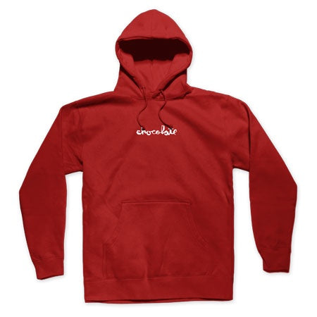 Chocolate Mini Chunk Pullover Hoodie / Burgundy