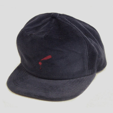 Passport Wine Time Felt Snapback Hat / Navy