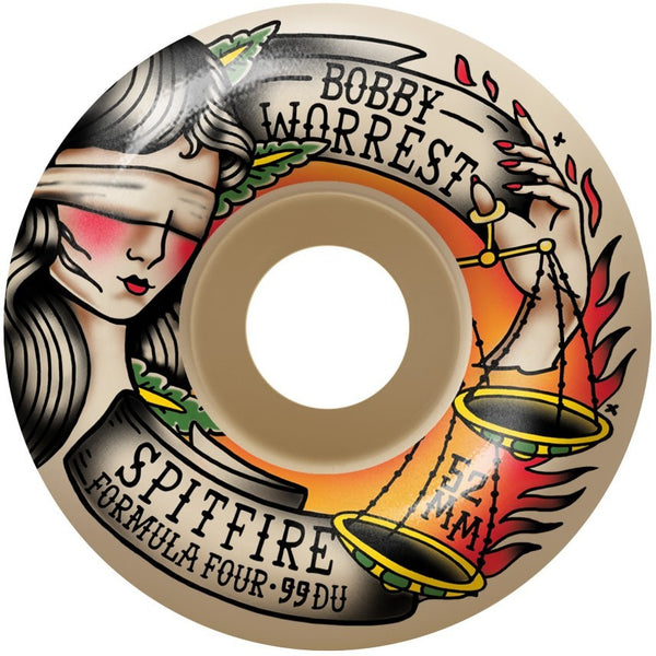 Spitfire F4 Worrest Pro Blind Justice Wheels 52mm