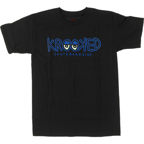 Krooked Eyes Tee / Black / Royal Blue