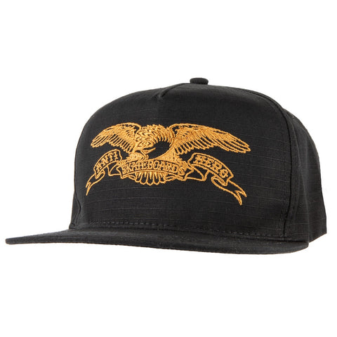 Antihero Basic Eagle EMB Snapback Hat / Black
