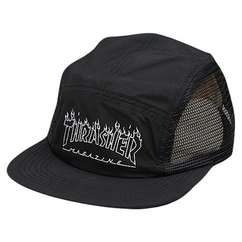 Thrasher Outline 5 Panel Hat / Black