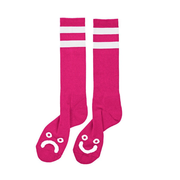 Polar Happy Sad Classic Socks / Hot Pink