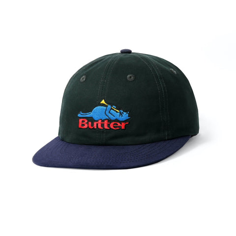 Butter Goods Cat 6 Panel Hat  / Mallard / Navy