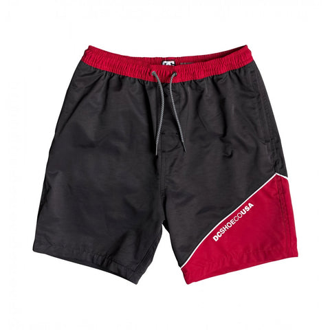 DC Split Side Shorts / Black / Red