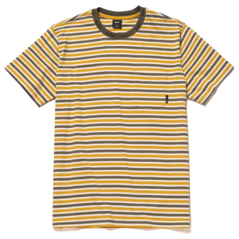 Huf Alex Stripe Tee / Golden Spice