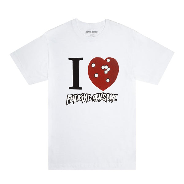 Fucking Awesome I Heart FA Tee / White