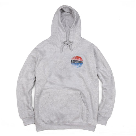 Butter Goods Multi-National Logo Hoodie / Grey Heather