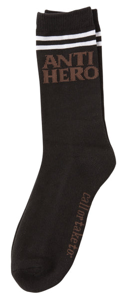 Anti Hero If Found Socks / Black /Brown