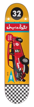 Chocolate Alvarez Rally Car Deck 8""
