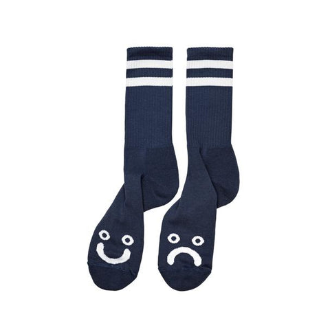 Polar Happy Sad Classic Socks / Navy