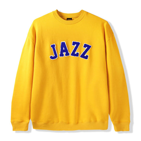 Butter Goods Jazz Applique Crewneck Sweater / Yellow