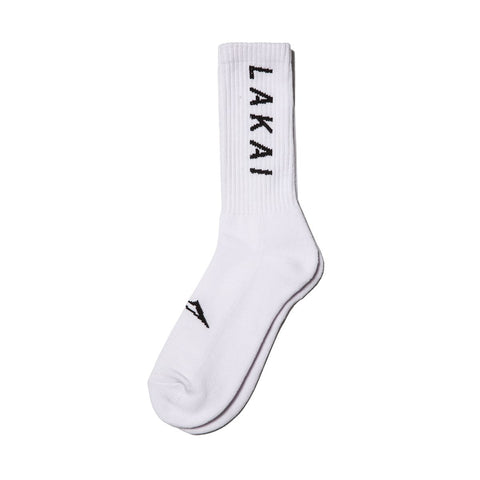 Lakai Simple Crew Socks / White