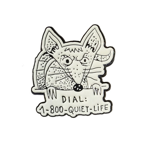 The Quiet Life Dial-a-rat Pin