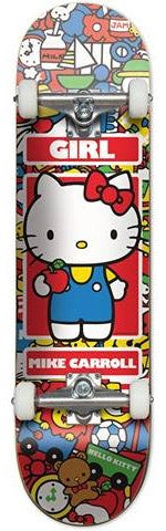 Girl Mike Carroll Hello Kitty Complete Skateboard 7.75""
