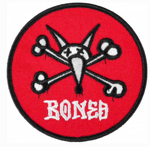 Powell Peralta Bones  Vato Rat Red Patch 3.5""