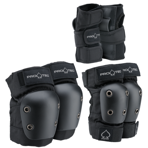 Protec Street Gear Jr. 3 Pack / Black