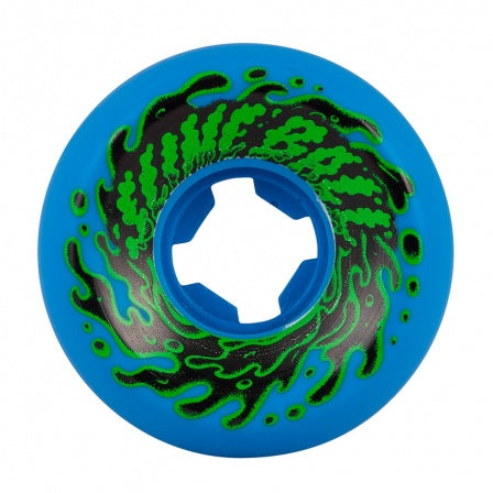 Santa Cruz Slime Balls Double Take Vomit Mini Neon Blue Wheels 54mm