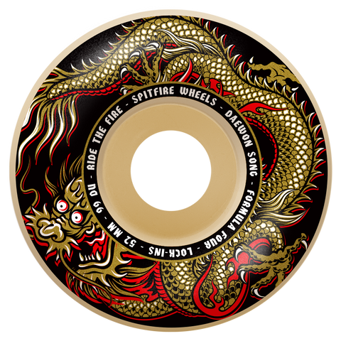 Spitfire F4 Daewon Pro Fury Lock-In Wheels 52mm