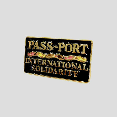 Passport Inter Solid Enamel Pin