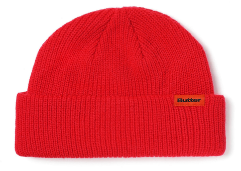 Butter Goods Wharfie Beanie / Red / Orange Tag