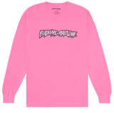 Fucking Awesome Actual Visual Guidance Longsleeve Tee / Neon Pink