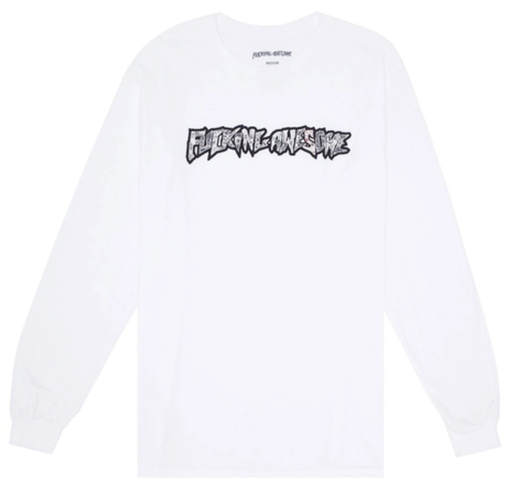 Fucking Awesome Actual Visual Guidance Longsleeve Tee / White