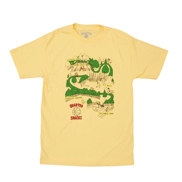 Quartersnacks Courts Tee / Light Yellow
