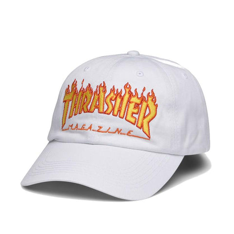 Thrasher Flame Old Timer Hat / White