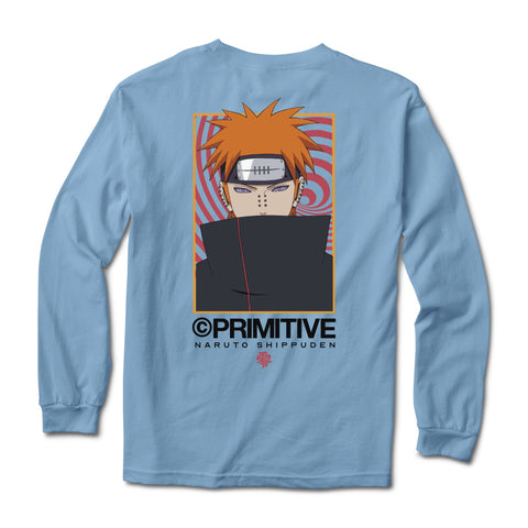 Primitive  x Naruto Know Pain Longsleeve Tee / Carolina Blue