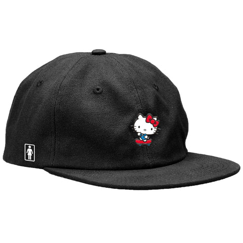 Girl x Hello Kitty Push Six Panel Hat / Black