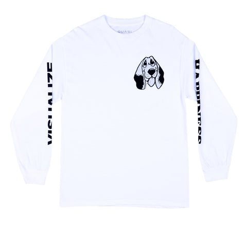 Quasi Happiness L/S Tee /  White