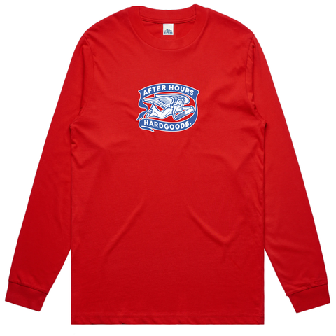 AfterHours Angel Long Sleeve Tee / Red