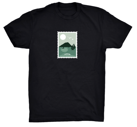 TGR Stamp Tee / Black (Green print)