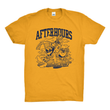 AfterHours Toons Tee / Gold Yellow