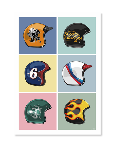 Helmets Print by Glenn Smith / A3