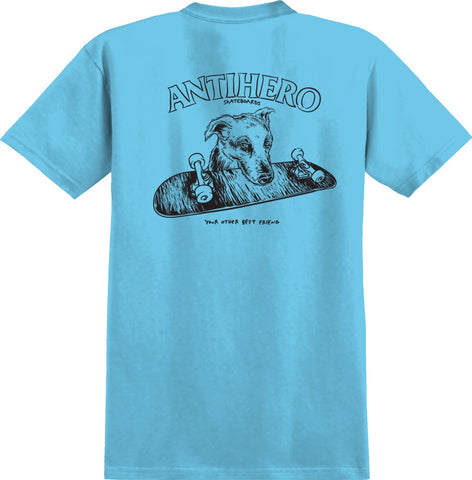 Anti Hero Best Friend Tee / Pacific Blue / Black