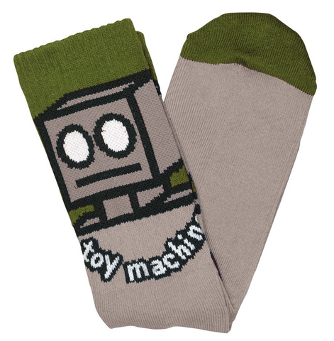 Toy Machine Robot Socks / Sand / Olive