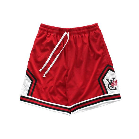 Vic Wig Basket Ball Shorts / Red
