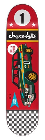 Chocolate Tershy Rally Car Deck 8.25""