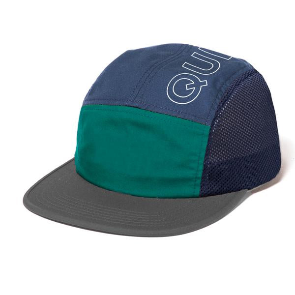 The Quiet Life Canyon 5 Panel Camper Hat / Navy / Hunter / Charcoal