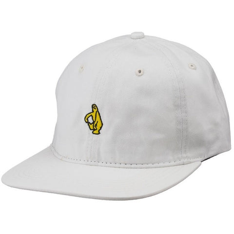 Krooked Shmolo 6 Panel Hat / White