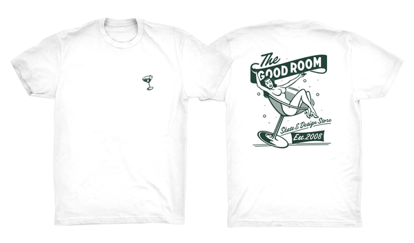 TGR Pin-Up Tee / White / Green