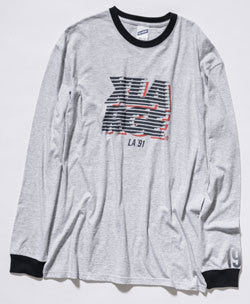 XLARGE Transfer 91 L/S Tee / Grey Heather / Navy