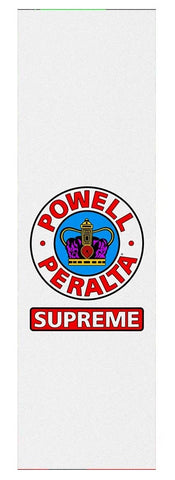 "Powell Peralta Supreme White Grip 10"" / Single Sheet"
