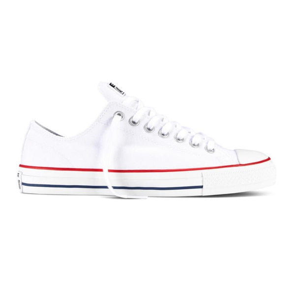 CONS CTAS Pro Low / White Canvas / Red