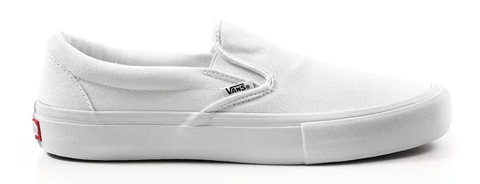 Vans Slip-On Pro / White Canvas / White