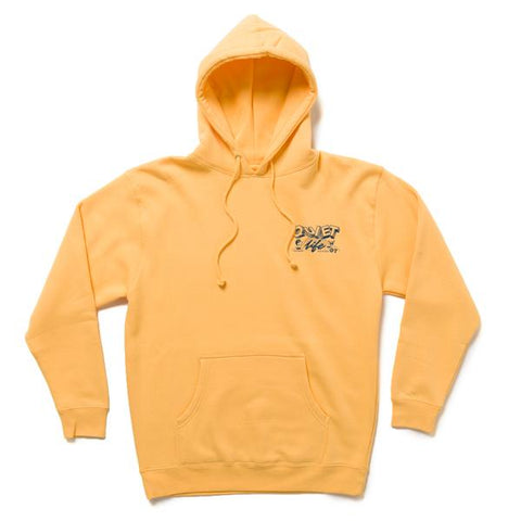The Quiet Life Grid Pullover Hoodie / Peach